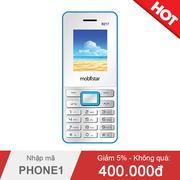 Điện thoại Mobiistar B217 Trắng xanh