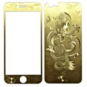 Miếng dán cường lực hình rồng cho iPhone 6 6S (Vàng đồng)