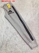 Quần thun nữ viển sọc Adidas bo lai năng động QTU32