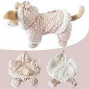 Dog Cat Winter Polka Dot Coat Jacket Hoody Pet Puppy Jumpsuit clothes (Intl)