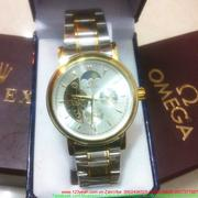 Đồng hồ cơ inox Ome nửa mặt trăng huyền bí sang trọng DHDT113