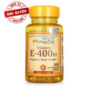 Viên uống bổ sung Vitamin E Puritan's Pride Vitamin E-400 IU 100 viên - 1770