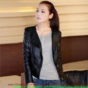 Áo khoác da cao cấp cổ vest túi đơn giản tự tin sành điệu sAKE54