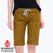 Quần Lửng Kaki Nữ LT Hoa Văn Winmaxx