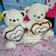 Gấu bông ôm tim chữ Love TNB-17